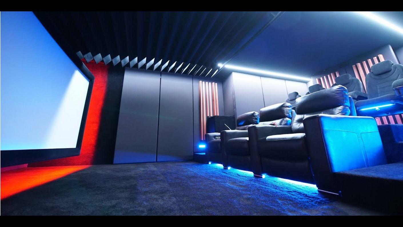 Heimkino Design + Akustik + Funktion vollendet umgesetzt, mit der Hollywood zuhause individual Line.